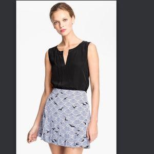 Kate Spade Addie Top Black Silk Blouse